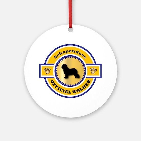 Schapendoes Walker Ornament (Round)