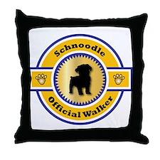 Schnoodle Walker Throw Pillow