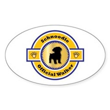Schnoodle Walker Oval Decal