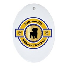 Schnoodle Walker Oval Ornament