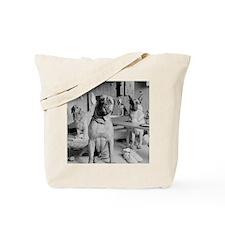 DOGS IN LOCKER ROOM Tote Bag