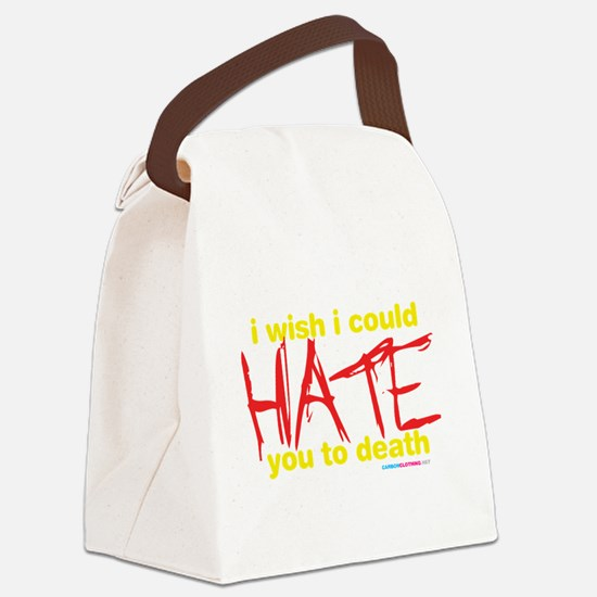 Cute Hate you Canvas Lunch Bag