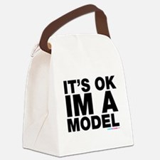 It's Ok Im A Model Canvas Lunch Bag