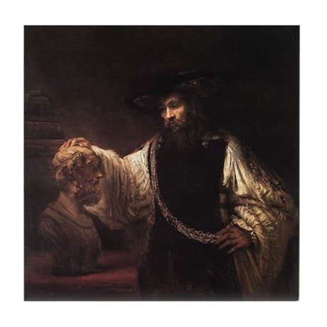 Rembrandt Aristotle and Bust Tile Coaster