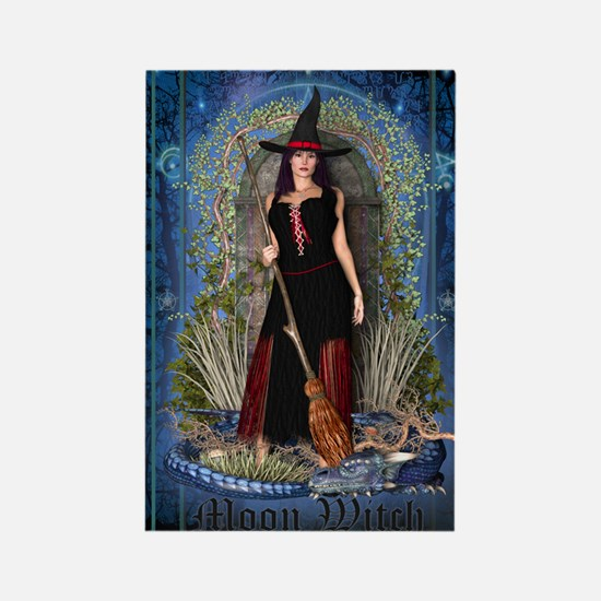 Moon Witch Rectangle Magnet