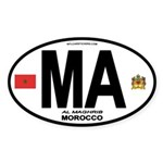 Morocco Euro-style Country Code Oval Sticker