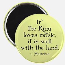 King Loves Music Magnet