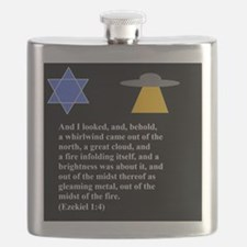 Ezekiel 1:4 Judaism Flask