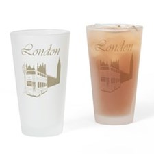 Retro London Drinking Glass