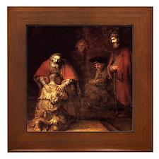 Rembrandt Return Of The Prodi Framed Tile