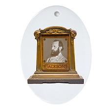 Stonewall Jackson Antique Memorial Ornament (Oval)