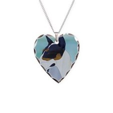 TriColor Necklace Heart Charm