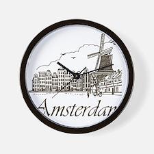 Vintage Amsterdam Wall Clock