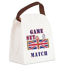 great britain tennis game set mat Canvas Lunch Bag