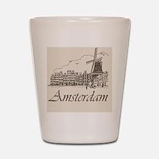 Vintage Amsterdam Shot Glass