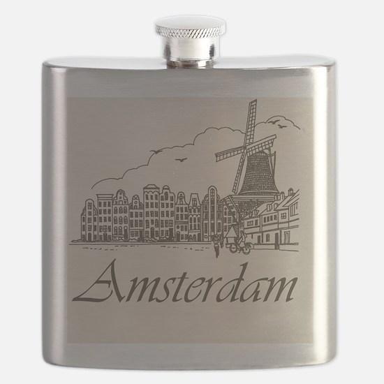 Vintage Amsterdam Flask