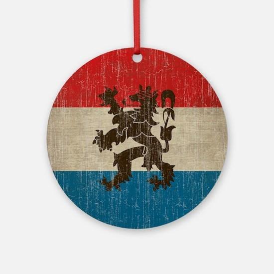 Vintage Netherlands Flag Round Ornament
