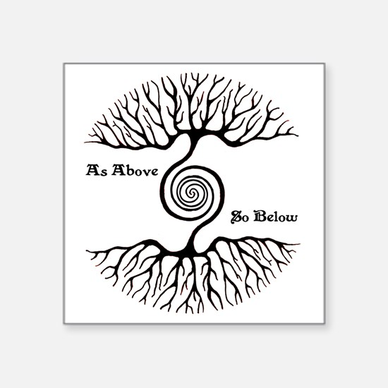 """As Above ~ So Below Square Sticker 3"""" x 3"""""""