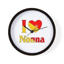 I Love Nonna Wall Clock