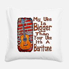 Baritone Uke Square Canvas Pillow