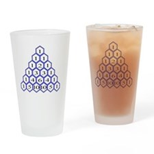 Pascals Triangle Drinking Glass