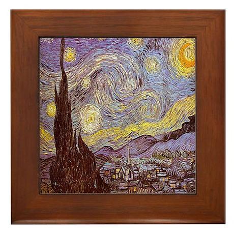 Van Gogh The Starry Night Framed Tile
