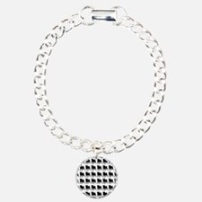Pug Silhouette Flip Flop Bracelet
