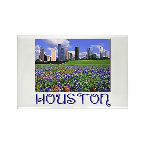 Houston Bluebonnets Rectangle Magnet