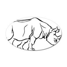 00031_Rhino37.gif 35x21 Oval Wall Decal