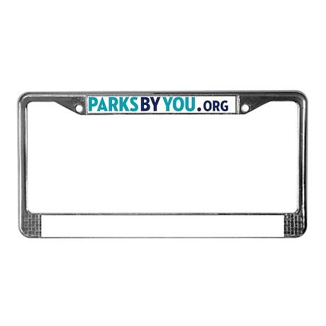 ParksByYou.org website logo License Plate Frame