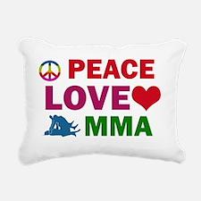 Peace love MMA Rectangular Canvas Pillow