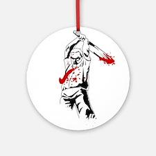 Kill The Zombies Ornament (Round)