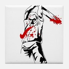 Kill The Zombies Tile Coaster
