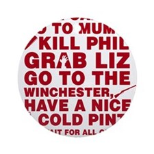 Shaun Of The Dead Montage Ornament (Round)