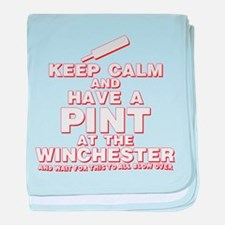 Keep Calm And Have A Pint baby blanket