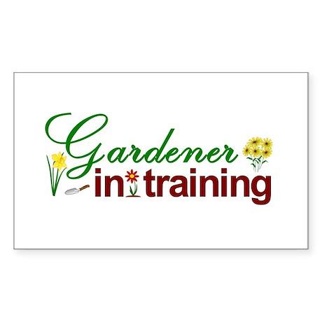 Gardener in Training Rectangle Sticker