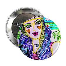 "Hippie Girl 2.25"" Button"