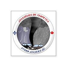 "Logo Chasseurs de Tempetes Square Sticker 3"" x 3"""