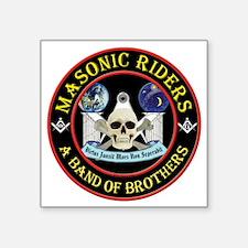"Masonic Riders Square Sticker 3"" x 3"""