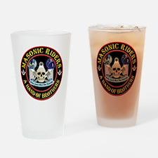 Masonic Riders Drinking Glass