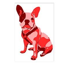 Bulldog Retro Dog Postcards (Package of 8)