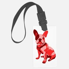 Bulldog Retro Dog Luggage Tag