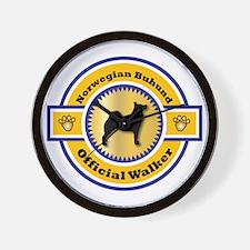 Buhund Walker Wall Clock