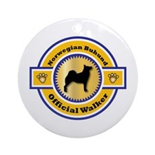 Buhund Walker Ornament (Round)