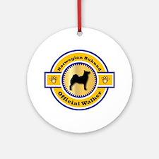 Buhund Walker Ornament (Round)