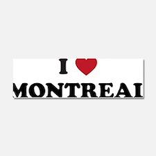 I Love Montreal Car Magnet 10 x 3