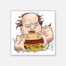 "Hungry Sweaty Baby Square Sticker 3"" x 3"""