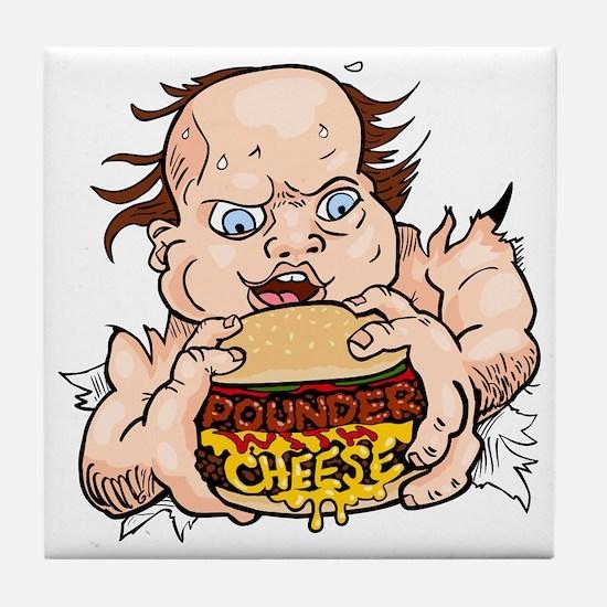 Hungry Sweaty Baby Tile Coaster