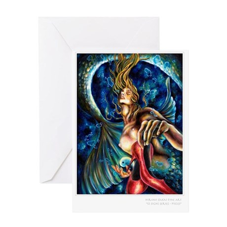 Pisces post card Greeting Card