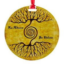 As Above So Below Color Print Ornament